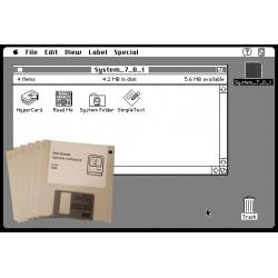 Mac OS 7.0.1 6-disk set
